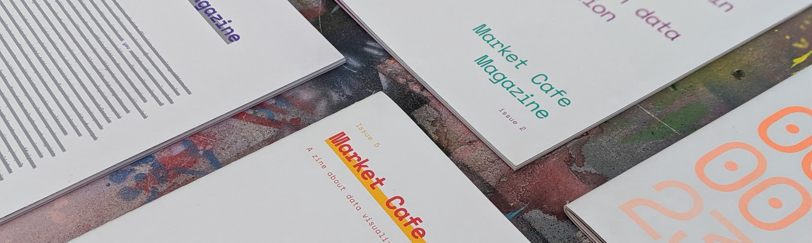 The five covers of Market Cafe Magazine