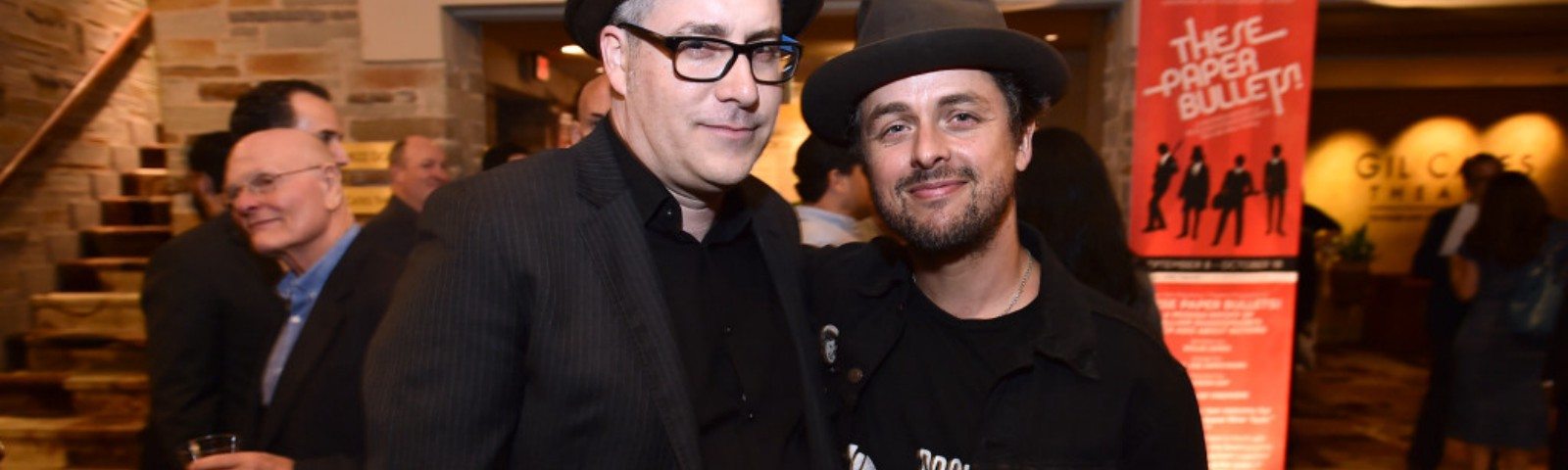 Rolin Jones, left, and Billie Joe Armstrong on Opening Night. Photo by Jordan Strauss.