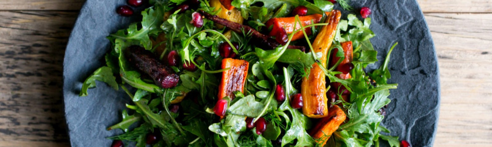 Roasted Carrot Salad With Arugula and Pomegranate