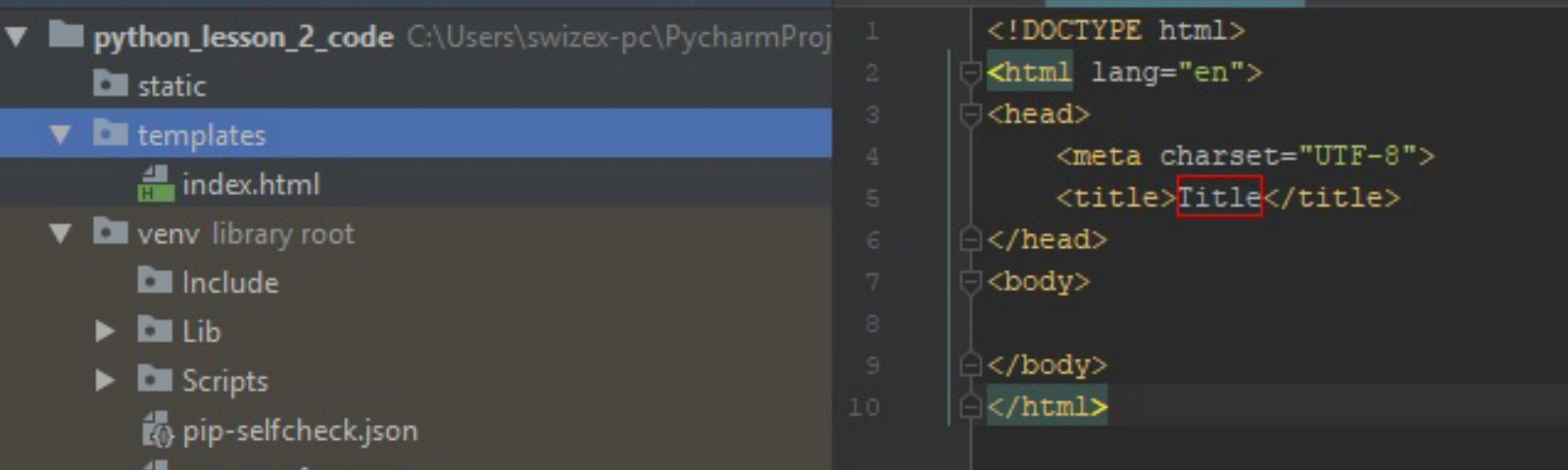 Python lesson — Setting up a Flask Website (Pycharm) Part 1
