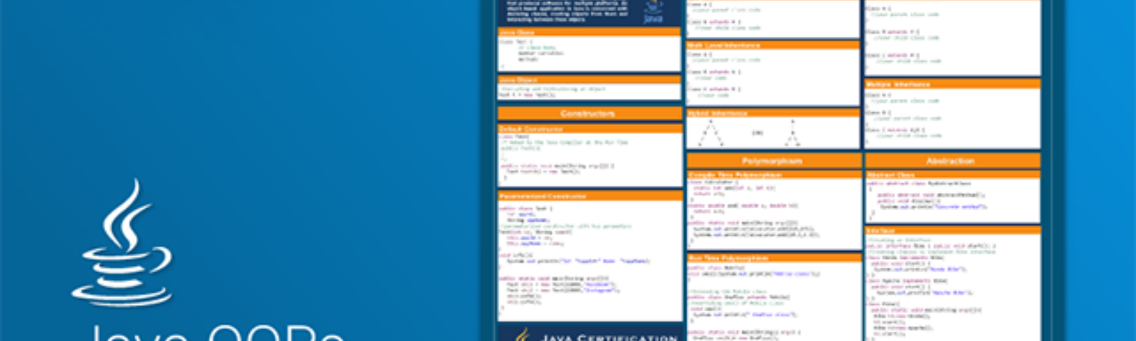 Java OOP Cheat Sheet | Object Oriented Programming Concept