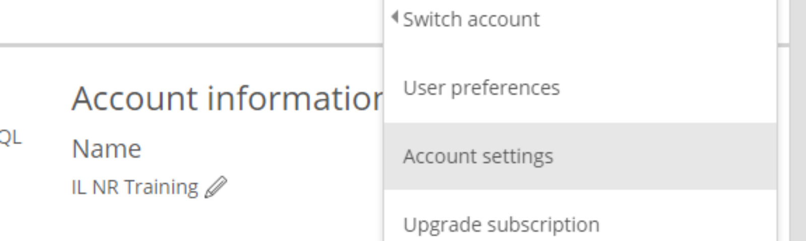 Location of NR license key in New Relic Account Settings.