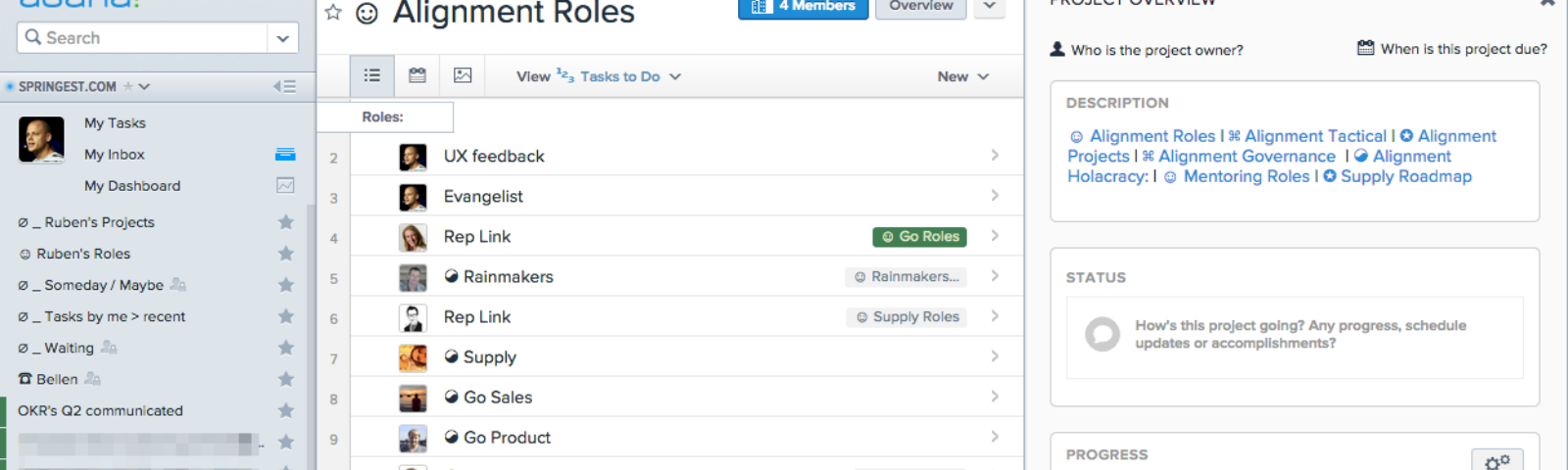 Productive Transparency With Gtd Holacracy And Asana A Guide