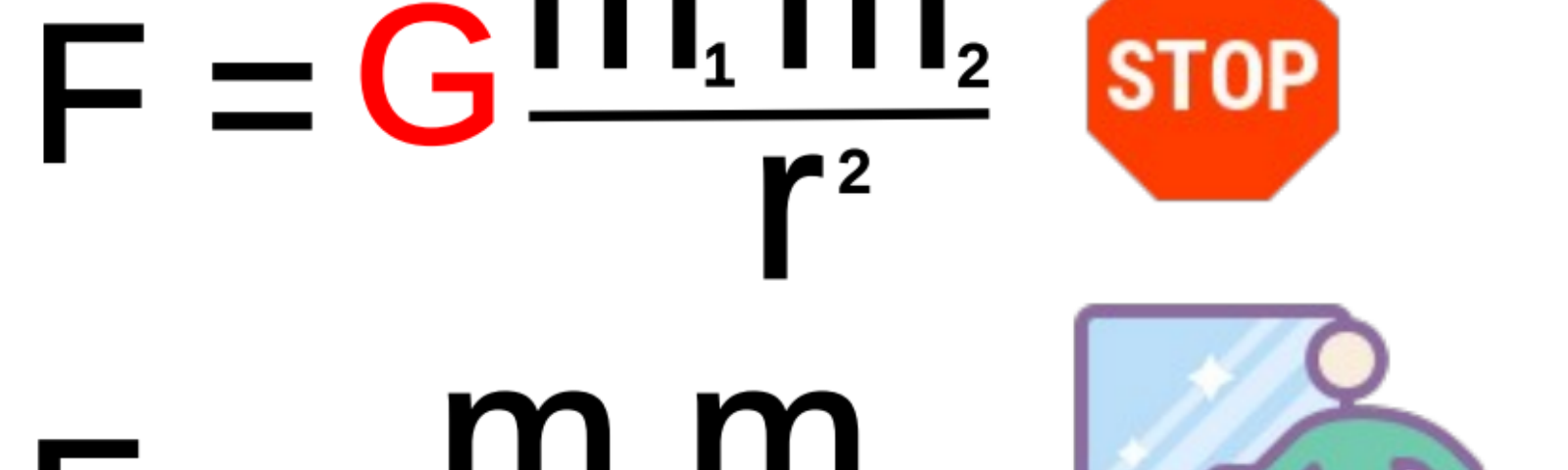 A an illustration of Newton's constant