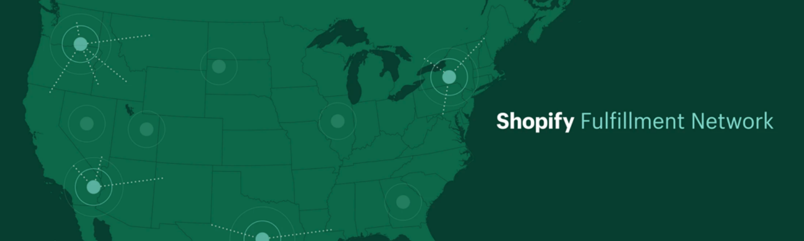 A map of the Shopify Fulfillment Network.