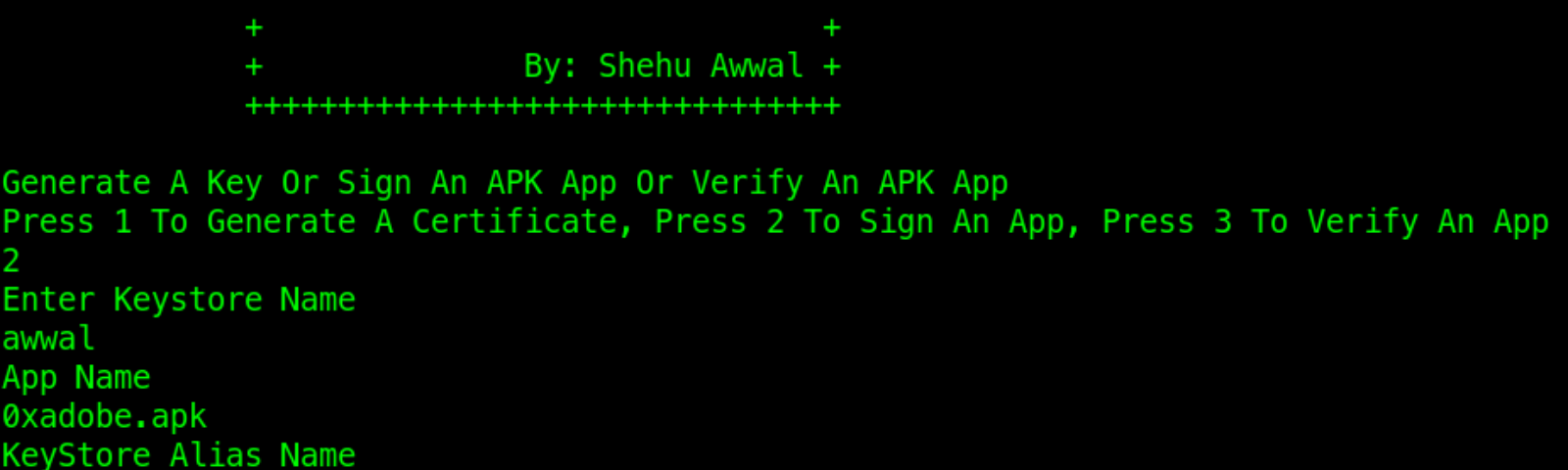 Android Certificate: Generate, Sign And Verify An Apk App