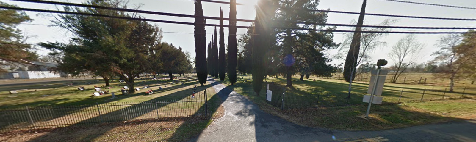 The entrance to Cottonwood Cemetery, Cottonwood, California