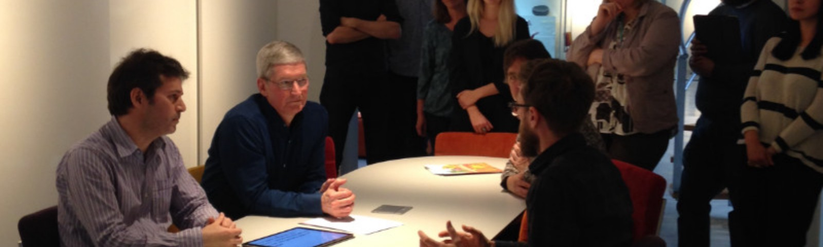 Presenting Proloquo4Text to Tim Cook from Apple.