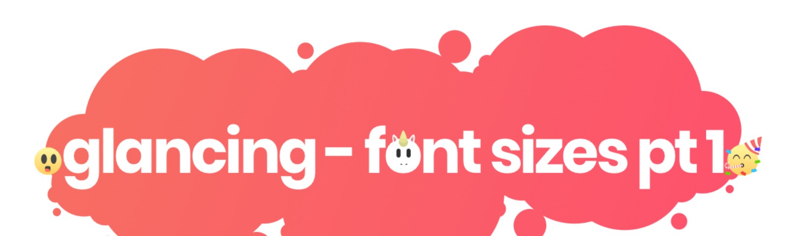 creative m studios savage glancing font sizes part one