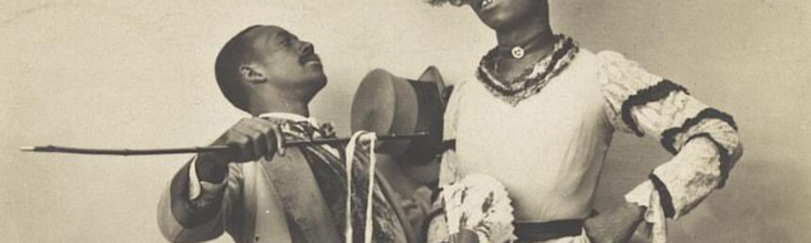 Two African-American actors, one in drag from 1903