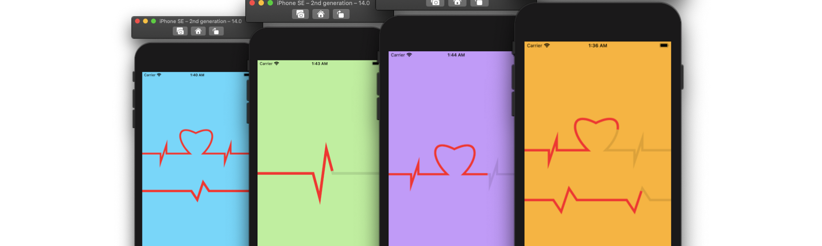 Animated heartbeat shape