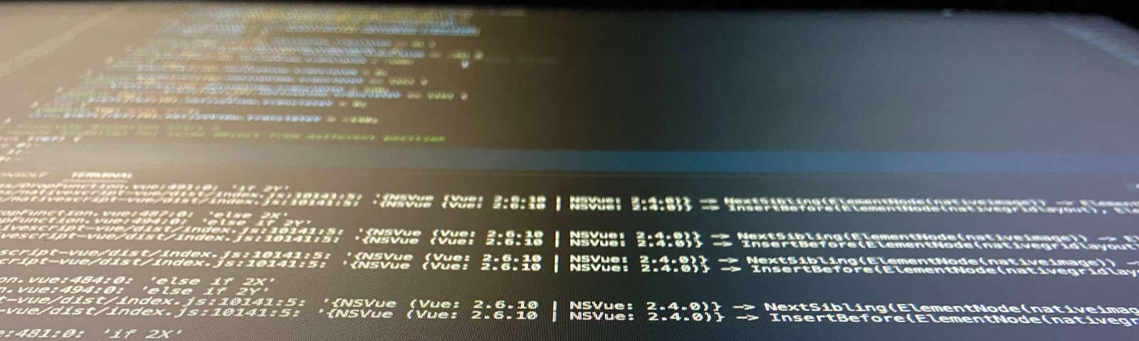 An IDE tools image while programming