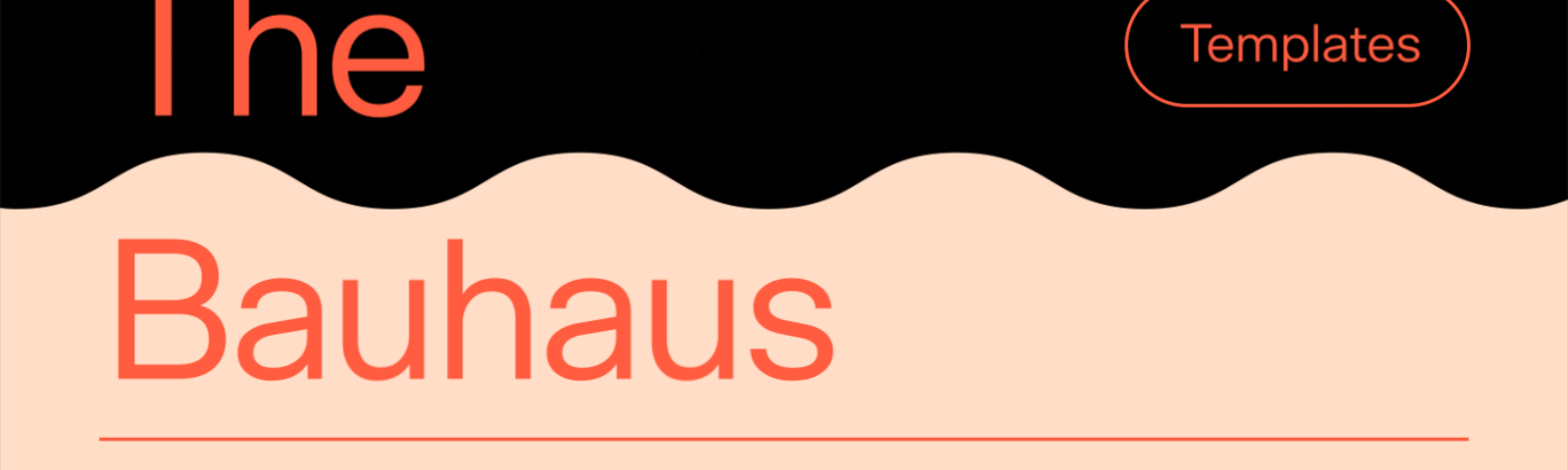 Creative graphic to showcase the Bauhaus-inspired template collection.