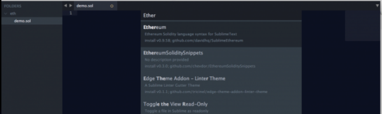 Ethereum-Solidity language syntax in Sublime - Tech Geek