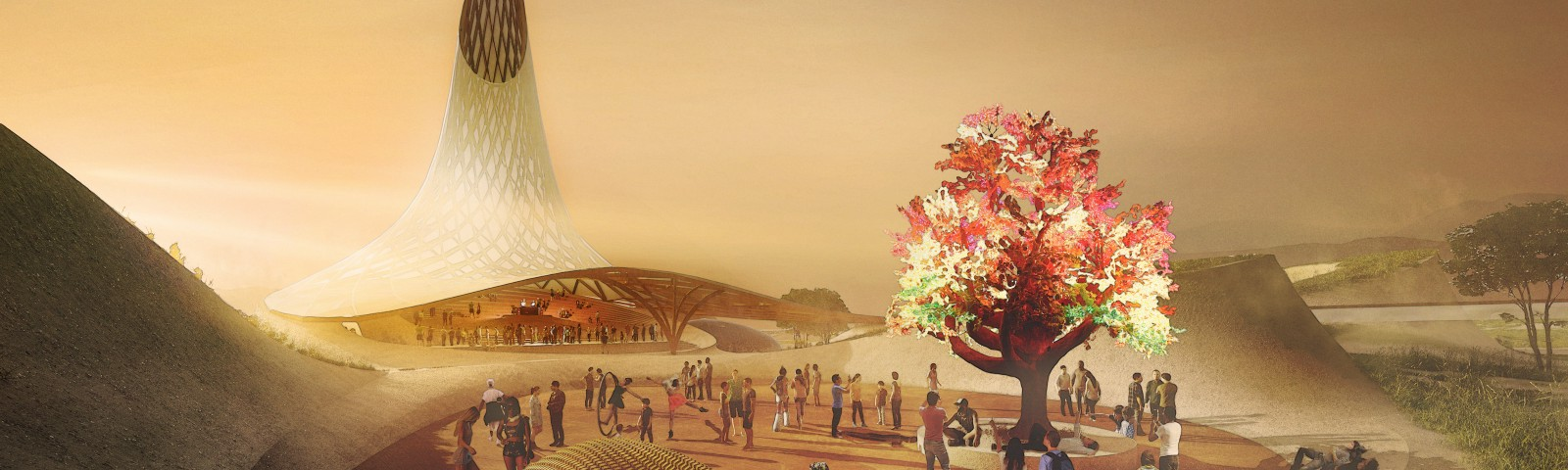 Project SEED, a regenerative city being built at Fly Ranch, winner of the LAGI x Burning Man competition.
