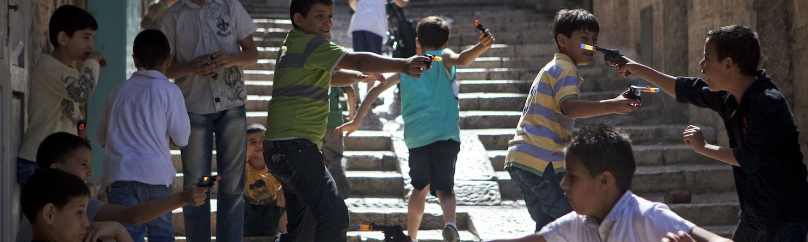 Children play in an Israeli street. Photo Credit: