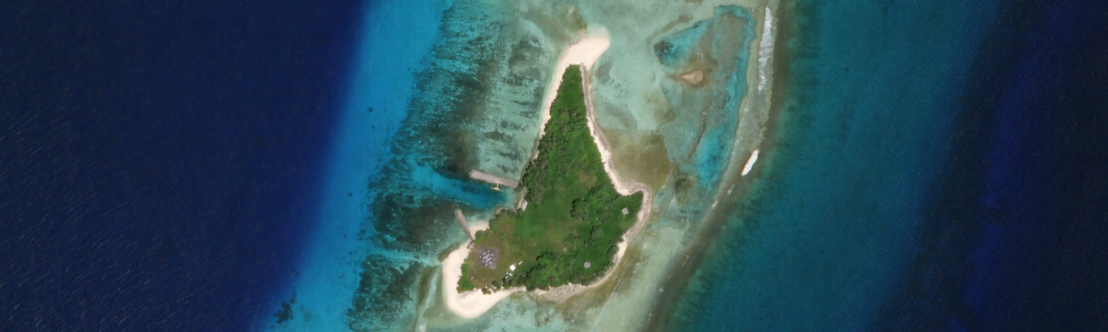 Retired SpaceX Falcon 1 launch site. Omelek Island, Kwajalein Atoll.