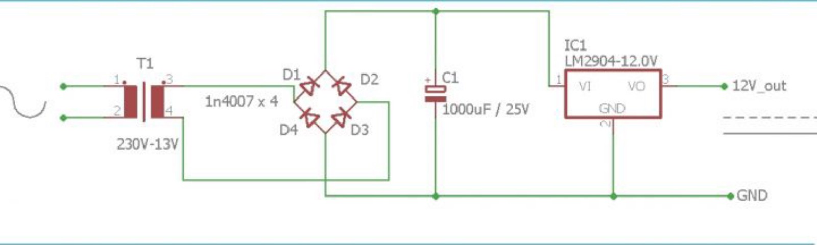 ac to dc converter circuit | 220v to 12v dc converter circuit ...  medium
