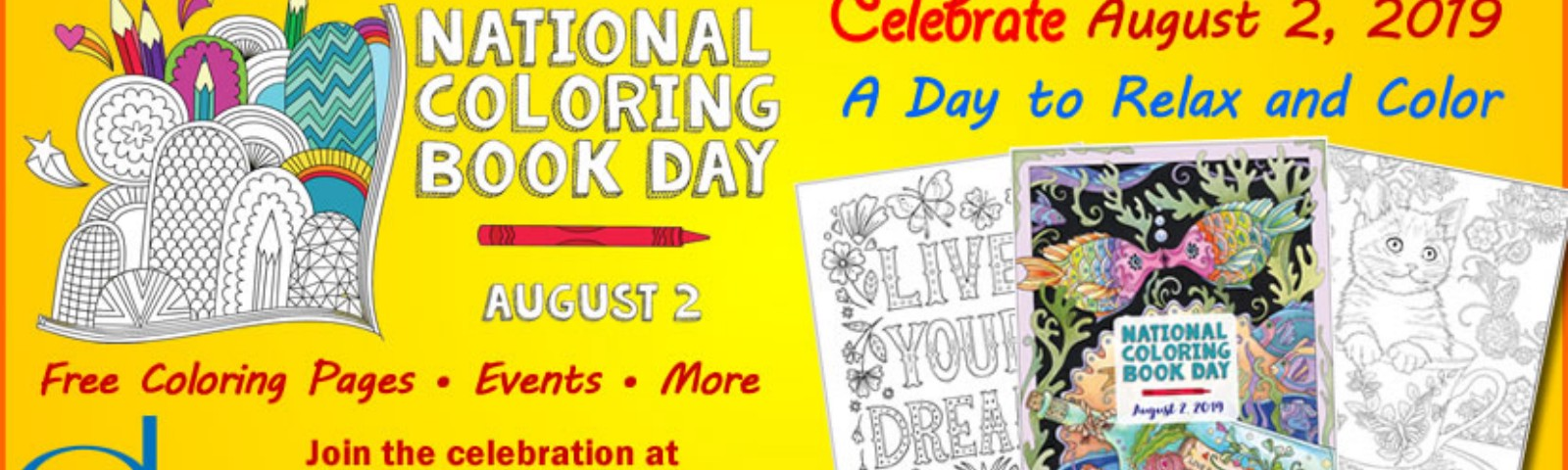 National Coloring Book Day Is Coming August 2 Doverpublications