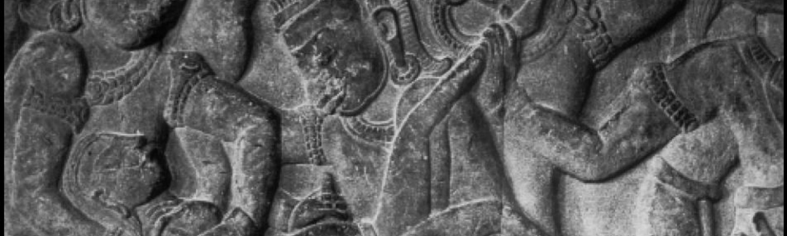 Ancient relief carving showing a method of abortion.