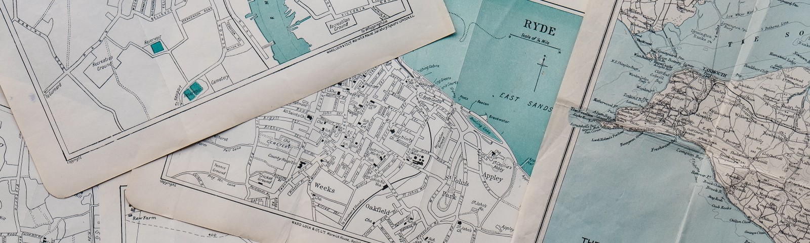 A bunch of maps meant to convey the idea of planinng