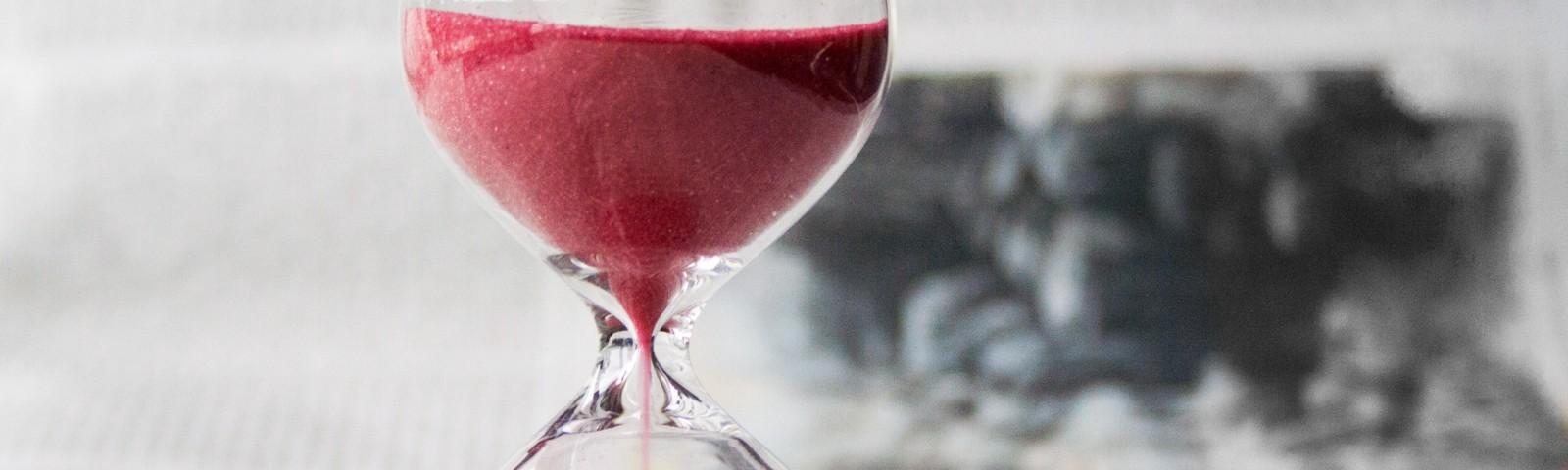 hourglass with sand running
