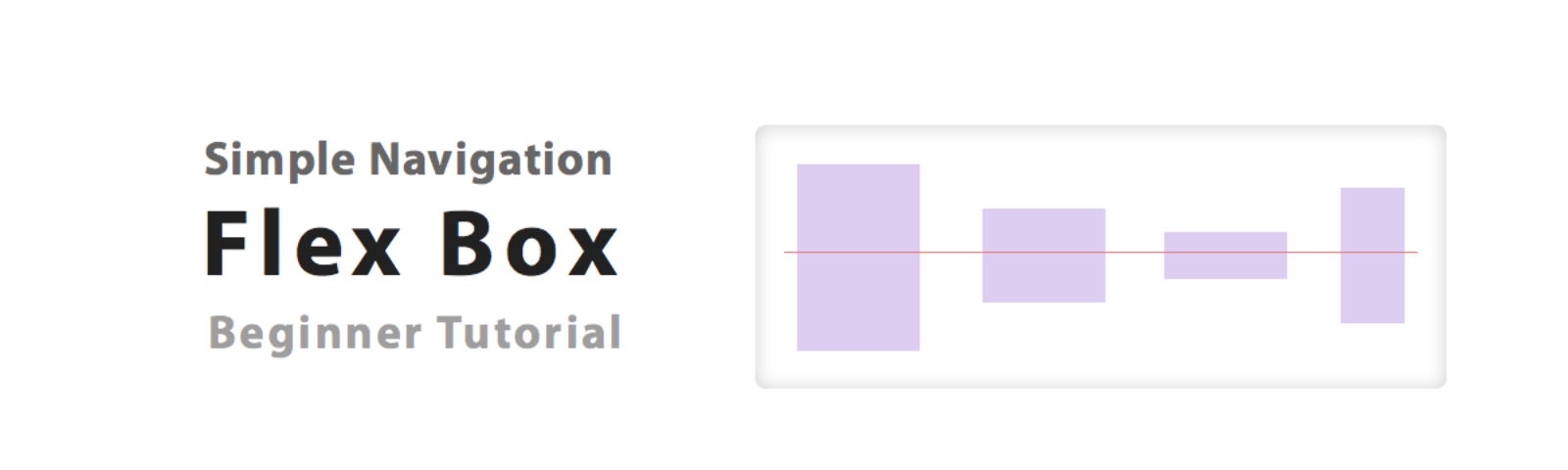 How to Create a Simple Top Navigation using Flex Box