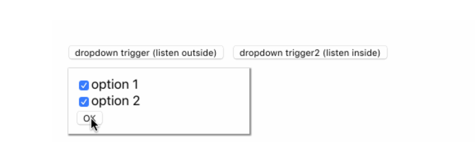 Dismissing a React Dropdown Menu by Clicking Outside its Container