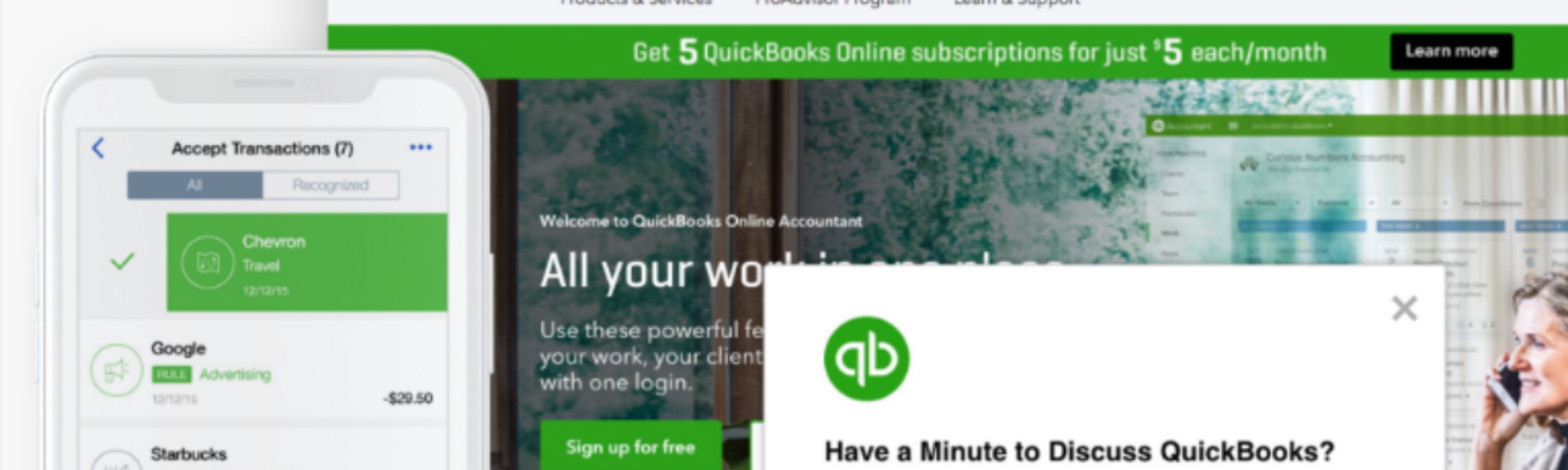 Ethnio being used on Quickbooks.com to recruit for a qualitative research session.
