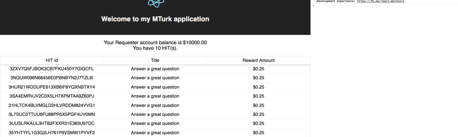 JavaScript – Happenings at MTurk