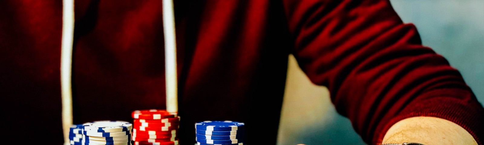 Man playing poker — Life is a game and we are all gamblers