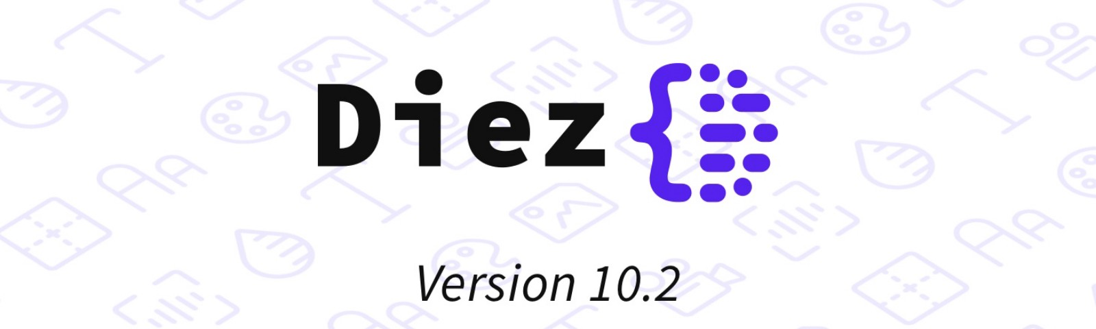 The Diez logo with the version number 10.2