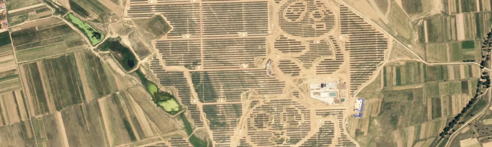Solar farm in Daton, China © 2017. Planet Labs Inc. All Rights Reserved.