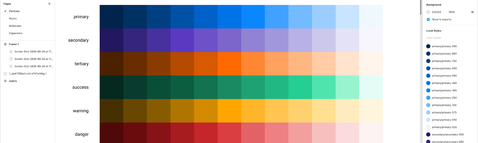Hero image for palettes for design systems