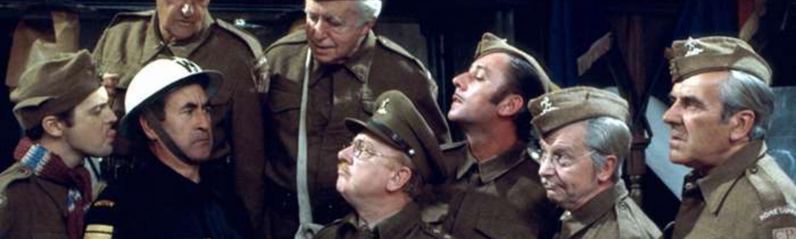 Soldiers of the Home Guard in an episode of BBC comedy, Dad's Army