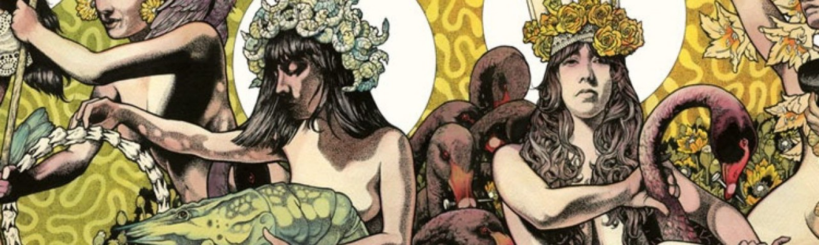 Composit image of Yellow & Green cover art by Baroness