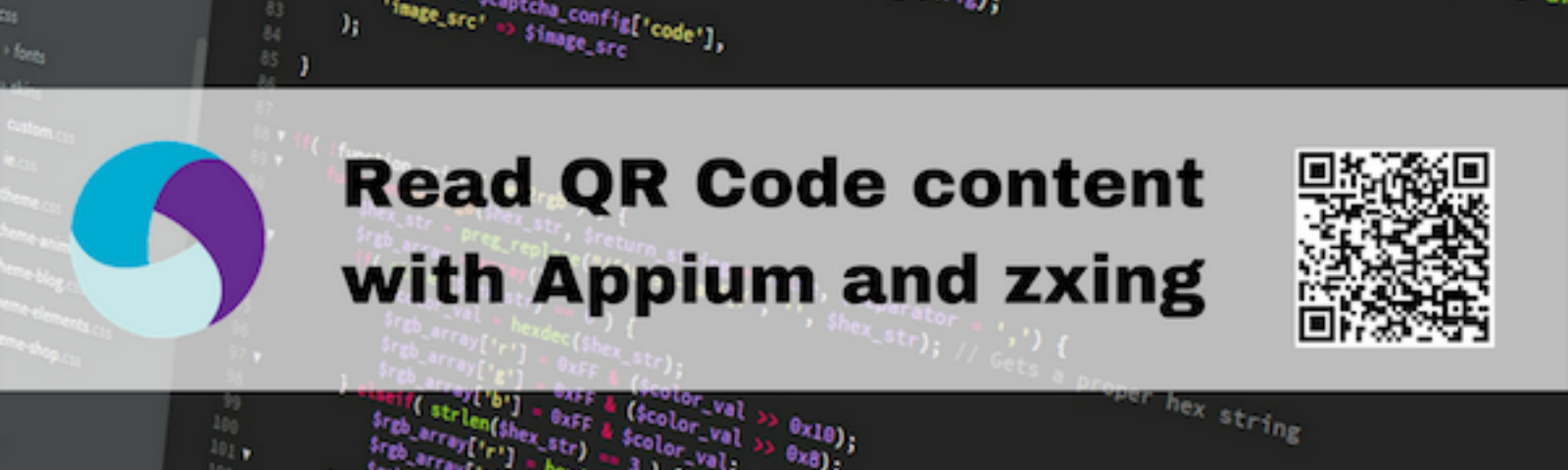 Read a QR Code content with Appium and zxing - assert(QA