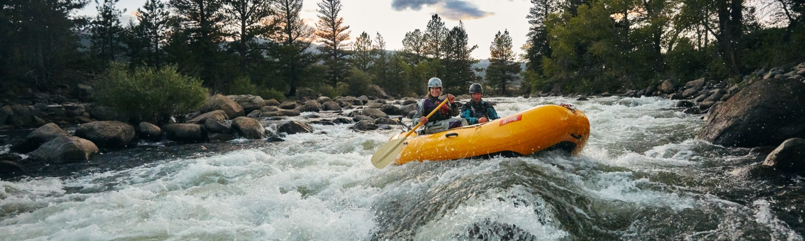 White water rafting in Buena Vista for Huck Adventures