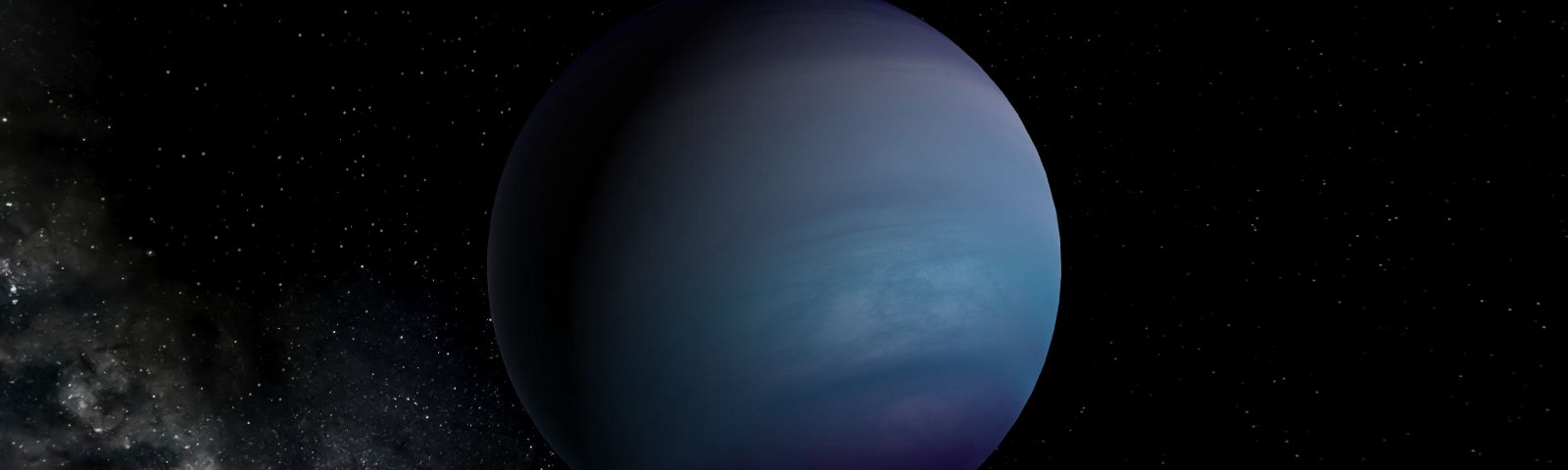 Planet 9 is depected here as a large, blue, gaseous planet.