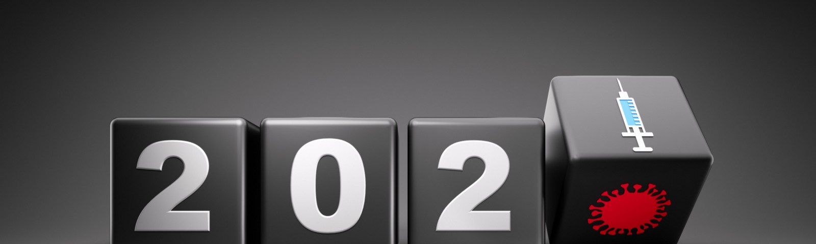 Graphic image of 2020 changing to 2021