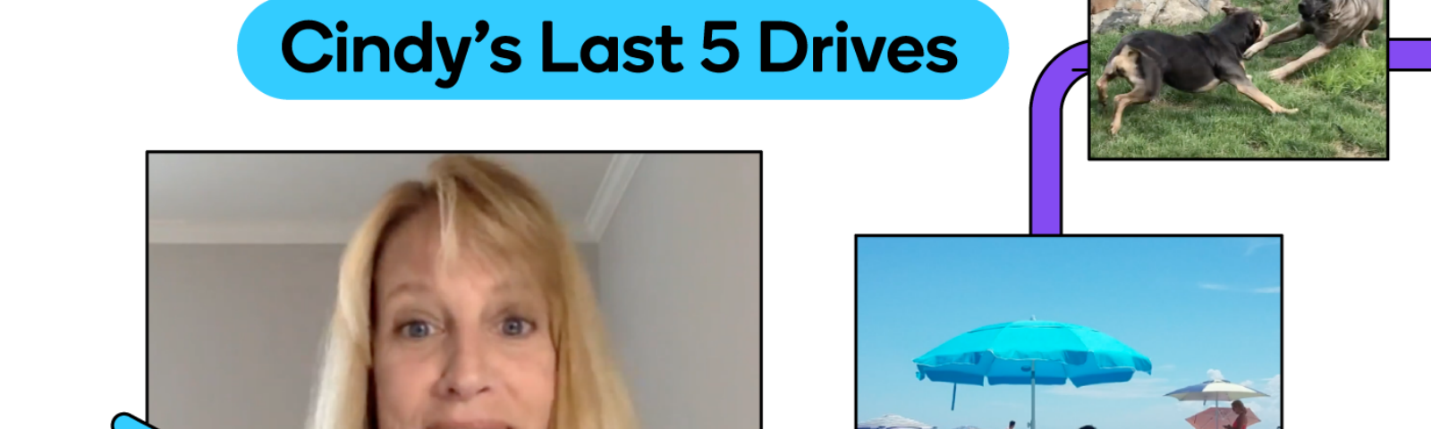 Cindy tells us about her last 5 drives with Waze.