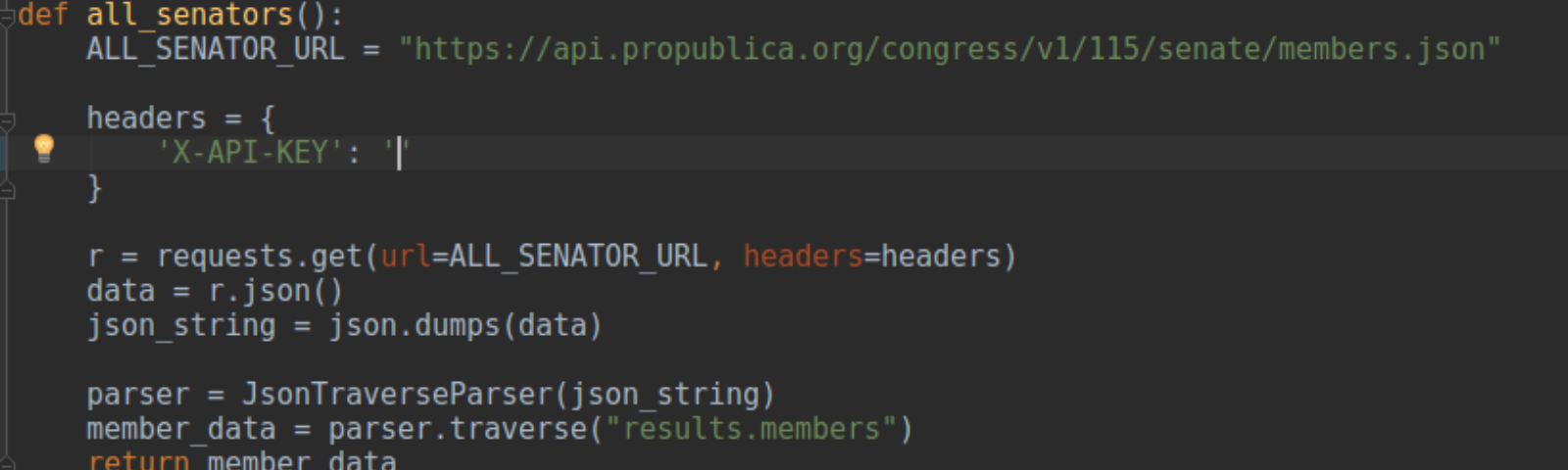 Python: Requesting and parsing data from API - Tom Marler