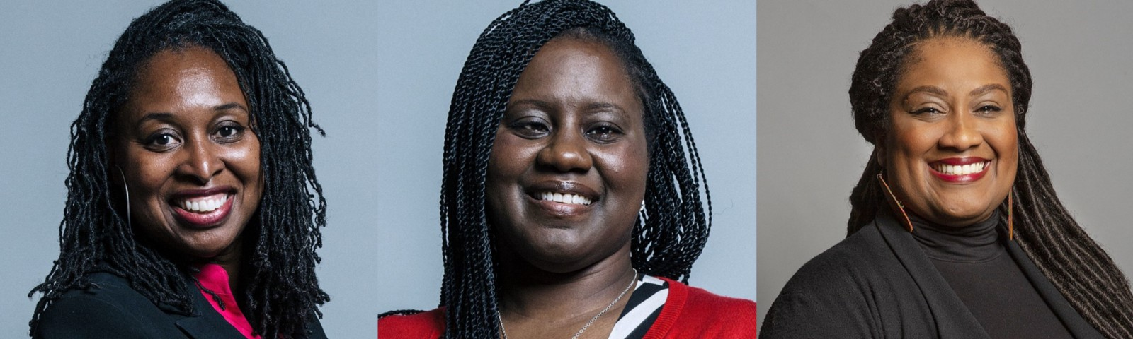 Three Black British MPs; Dawn Butler, Marsha de Cordova, Bell Ribeiro-Addy