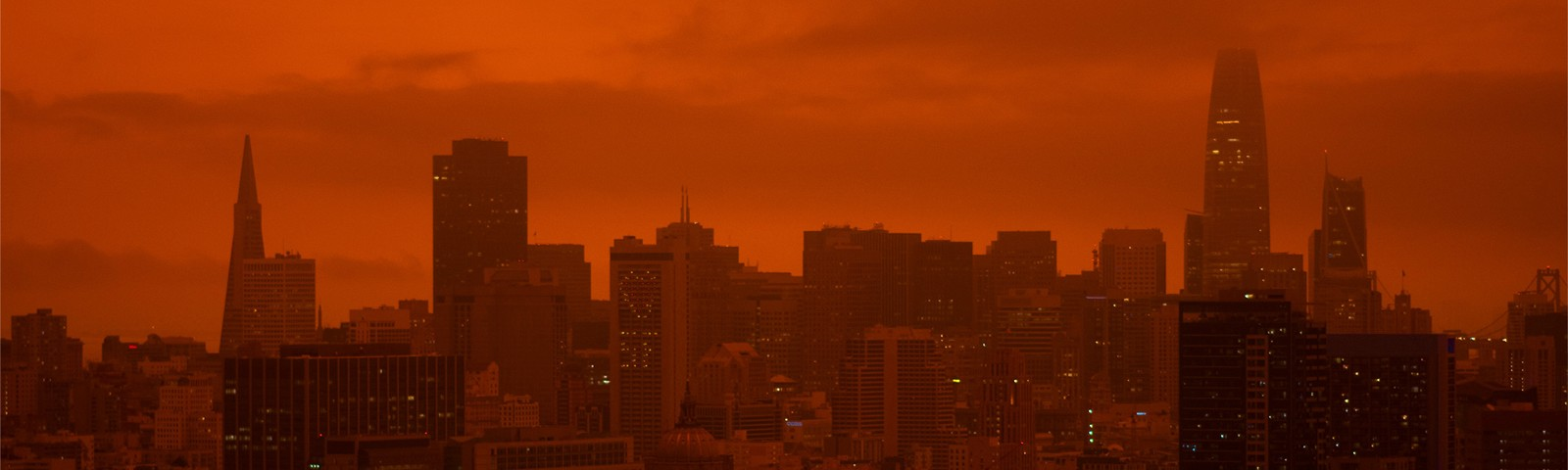 Orange skies color San Francisco from the events of September 2020.