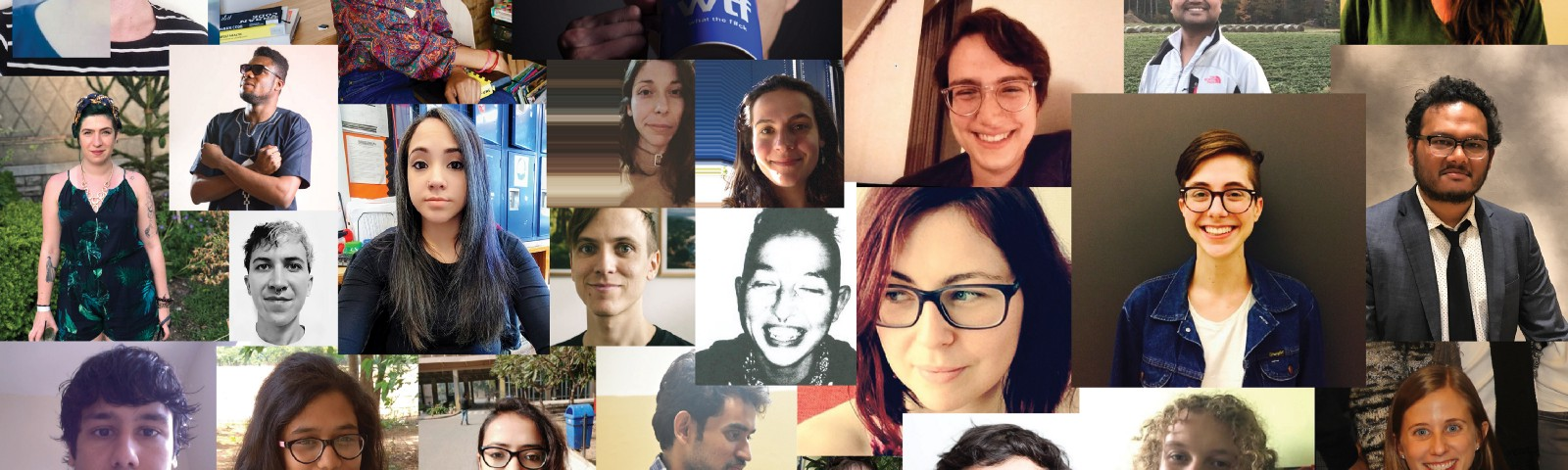 A collage of all the Fellows' bio photos. 42 total people.