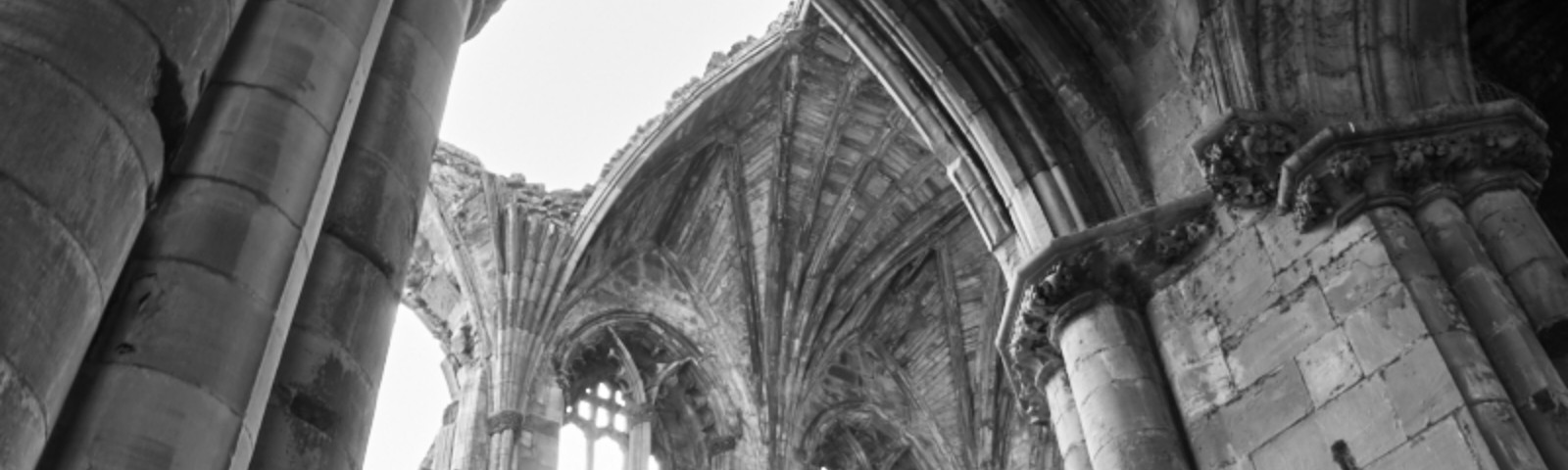 The beginning of the pilgrimage, Melrose Abbey, Scotland