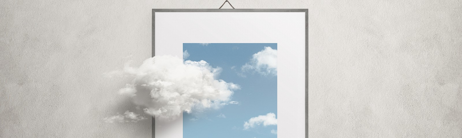 Clouds in a picture frame.