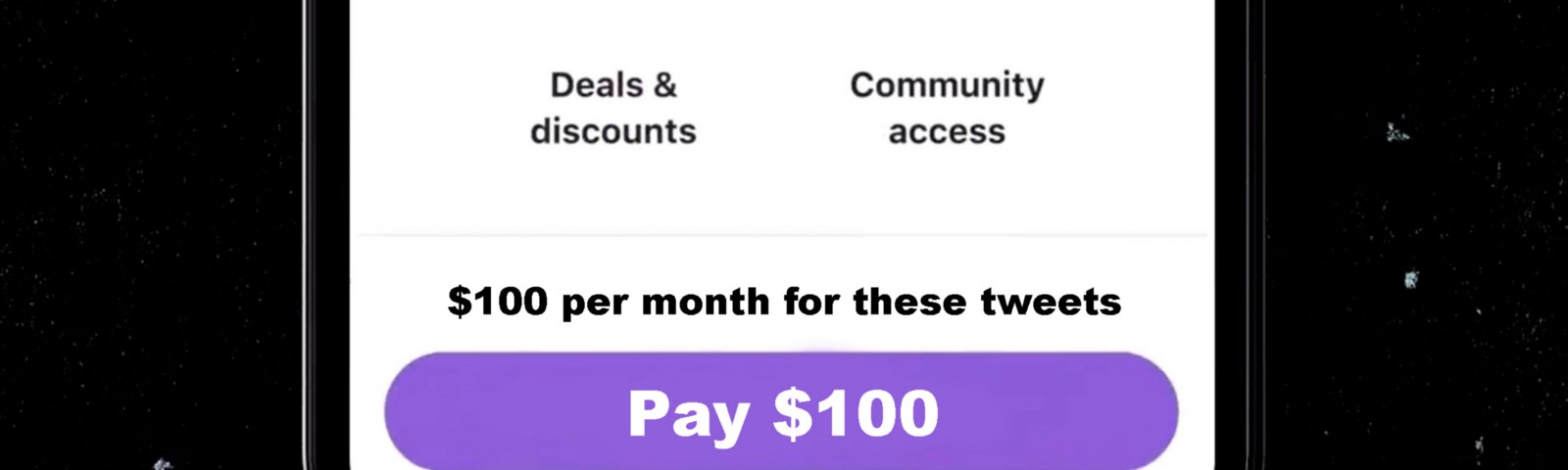 Pictured: Twitter's new 'pay $100' button.
