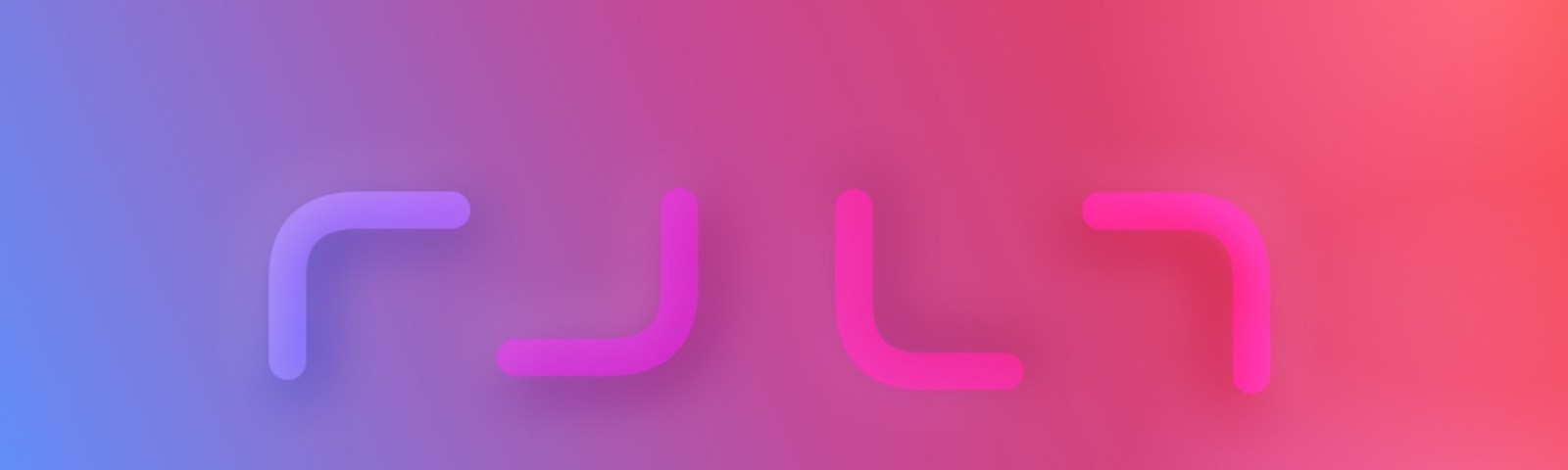 Outline shapes on a gradient background