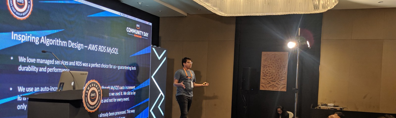 Presenting our learnings at AWS Community Day, Bangalore, 2019.